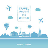 Travel arround the world vector illustration