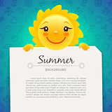 Colorful Summer Background with Copy Space