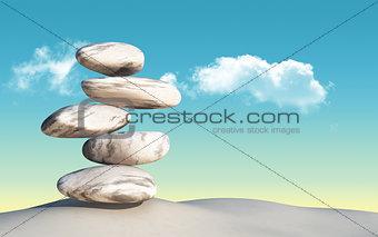 3D balancing pebbles