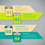 Color arrow infographic with 4 options