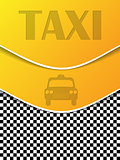 Checkered taxi brochure with silhouettes