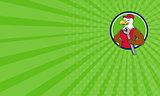 Business card American Bald Eagle Mechanic Spanner Circle Cartoon