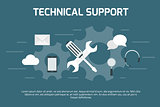 Technical support concept