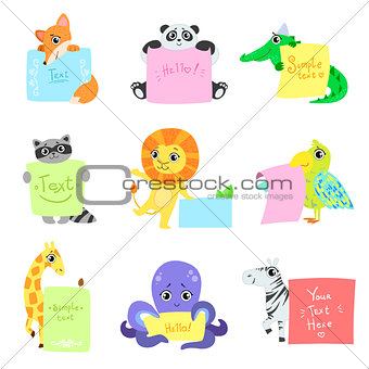 Animals With Messages To Fill Set