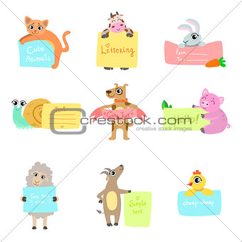 Animals With Cards To fill Set