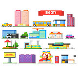 Big City Urban Icons Set