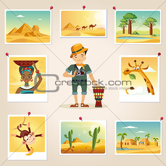 Africa Photographer Surrounded By Photos