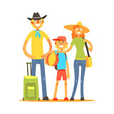 Family Of Three Tourists
