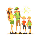 Family Of Four Travelers