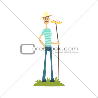 Skinny Farmer In Stripped T-shirt