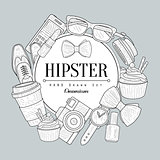Hipster Items Vintage Sketch