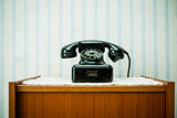 old-style image of a vintage telephone