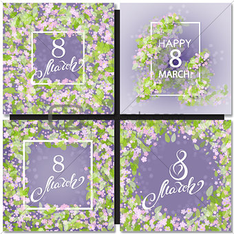 Abstract Purple Floral Greeting card
