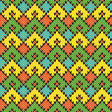 Multicolour Knitted Seamless Geometric Pattern