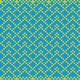 Knitted Seamless Geometric Pattern in blue and yellow