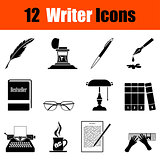 Set of writer icons
