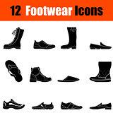 Set of man's footwear icons