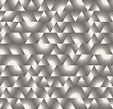 Vector Seamless Black and White Triangle Sunburst Lines Irregular Pattern
