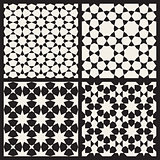 Set of Four Vector Seamless Islamic Stars Tessellation Geometric Pattern