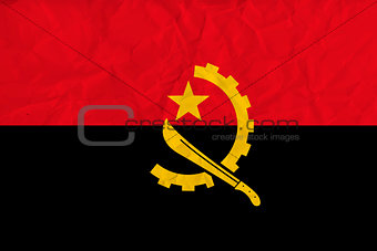 Angola  paper  flag