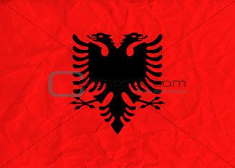Albania  paper  flag