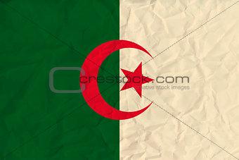 Algeria paper flag