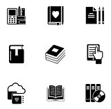 e book icon set