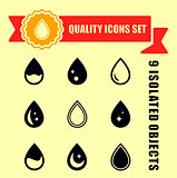 set quality drop icons