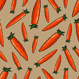 vector seamless cartoon pattern of carrots