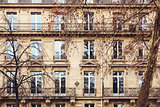 French Architecture with Typical Windows