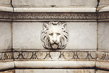 Ancient Marble Lion Head Bas-Relief