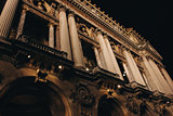 The Opera Garnier House in Paris at Night