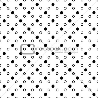 Abstract seamless circles pattern
