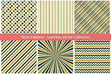 Collection of retro patterns.
