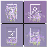 Vector card for 8 march. International Women Day