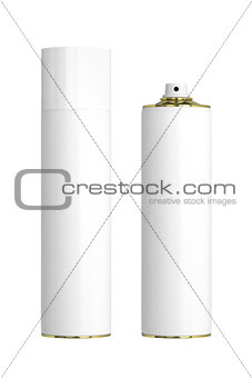 Air spray cans.