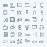 Line Gadgets and Devices Icons Set