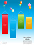 Infographic banners and balloons