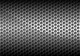 Chrome Perforated Metal Grid
