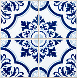 Traditional Portuguese glazed tiles