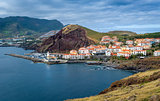 Canical town view. East coast of Madeira.