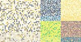 Abstract square pixel mosaic background. Seamless colorful tiles pattern.