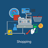 Shopping flat design