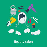 Beauty salon flat design