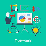 Business teamwork flat design
