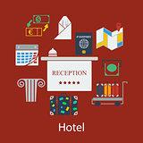 Hotel flat design