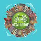 Amsterdam houses, little green planet