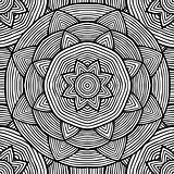 Black and white ethnic pattern for coloring