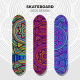 Skateboard colorful designs