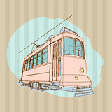 Old Tram Illustration